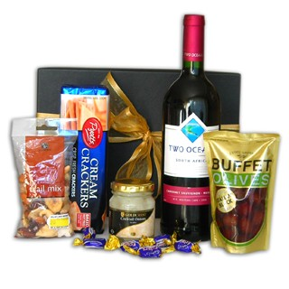 Fireside Red Wine and Snacks Gourmet