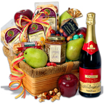 A Sophisticated Spread - Fruit Gift Basket