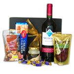 Fireside Red Wine and Gourmet Snacks