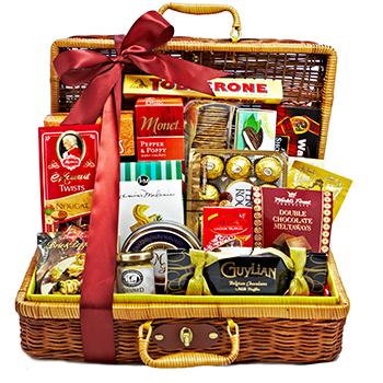 Cesta regalo gourmet para enviar a España